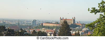 bratilava panorama - panorama photo of bratislava city,...