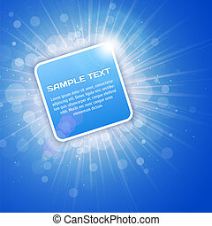 Blue Bright 3D Background with text space