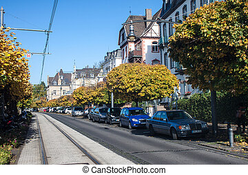Street in Koenigswinter, Germany