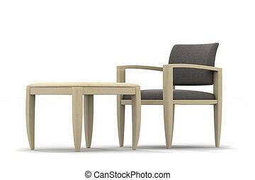 肘掛け椅子, テーブル