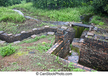 Recovered Frech trenches in Dien Bien Phu, Vietnam DBP is a...