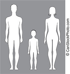 Human figure - Vector illustration of human figure Man,...