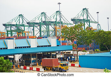 Singapore transportation - Singapore commercial port Its the...