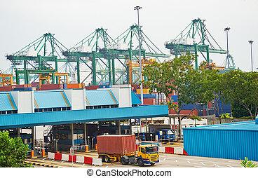 Singapore transportation - Singapore commercial port. It's...