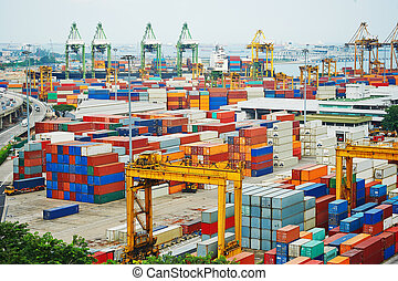 Port of Singapore - Singapore commercial port . It's the...