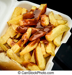 British Chip Butty - Scottish Style Chip Roll Butty WIth...
