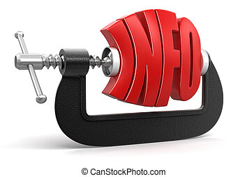 Info in clamp  - Info in clamp. Image with clipping path
