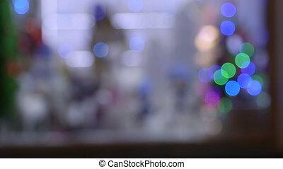Christmas shop window display light