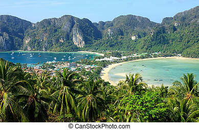 View of the island Phi Phi Don from the viewing point, South...