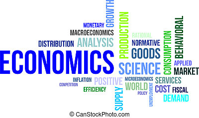 word clouod - economics - A word cloud of economics related...