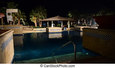 The swimming pool and bar