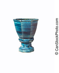 Ceramic flowerpot isolated. - Ceramic flowerpot isolated on...