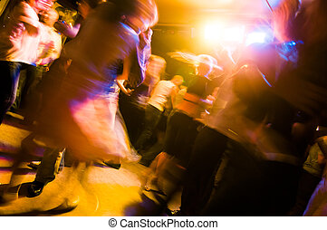 Dancing people - Latina dance night at club - people on the...