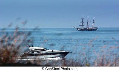 Yacht and sailing ship