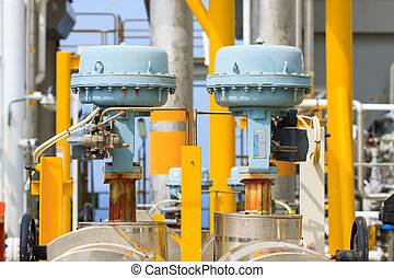 Control valve or pressure regulator in oil and gas process,...