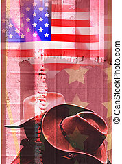 Two american lovers template with copy space