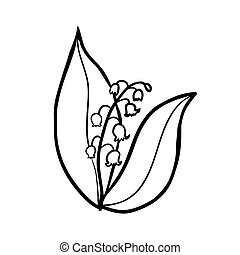 lily of the valley sketch - Vector hand drawn lily of the...