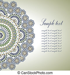 Vintage Background Traditional Ottoman Motifs - Vintage...