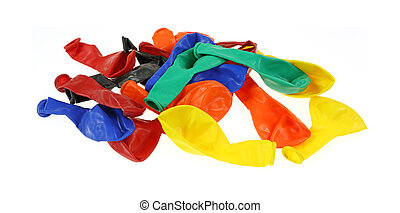 Spread Out Batch Party Baloons - A batch of colorful party...