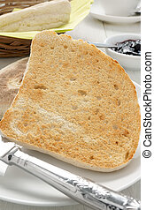 Irish Soda Bread or Farls split and toasted no butter