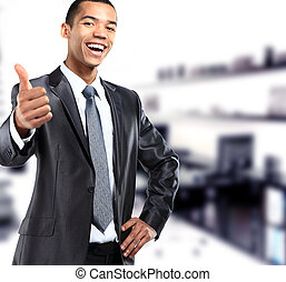 african businessman giving OK gesture