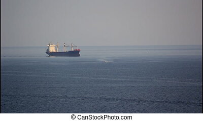 Large cargo ship - A large cargo ship, tanker
