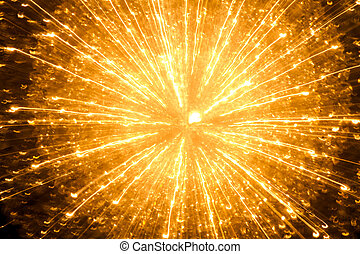 Christmas Lights Abstract Backgrounds - Abstract star burst...