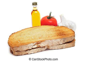 ajos, aceite, bread, tomaquet, marca, amb, papá, tomate,...