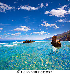Denia Alicante Las rotas rocky beach in Spain - Denia...