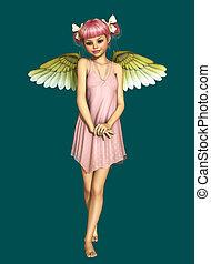 Little Angel 3d CG - 3D computer graphics of a little angel...