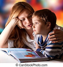 Story daydreaming - Little boy listening to his mother...