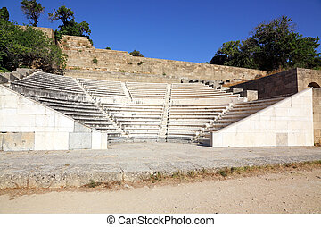 antique theatre on the island of Rhodes, for classes of...