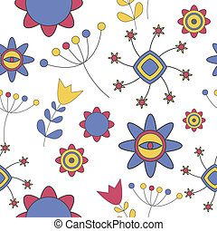 Abstract Cute Background  Flower Seamless Pattern Vector Illustration