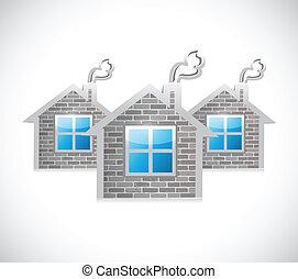 house market concept. illustration design