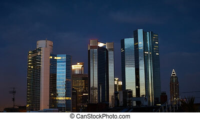 financial district time lapse - Timelapse video of the...