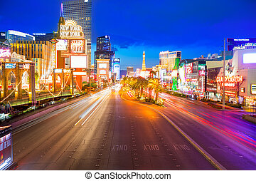 Editorial use only Las Vegas Nevada Strip at night in 2013...