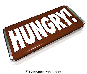 Hungry Word Chocolate Candy Bar Wrapper Hunger - Hungry word...
