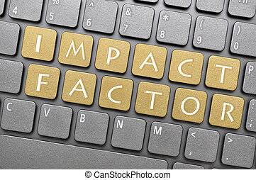 Impact factor key on keyboard - Brown impact factor key on...