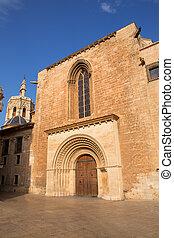 Valencia Cathedral romanesque door Puerta Palau Almoina -...