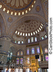 Blue Mosque - Interior view of Sultan Ahmed Blue Mosque in...
