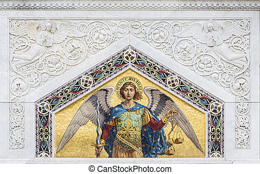 Saint Michael from St. Spyridon church in Trieste, Italy