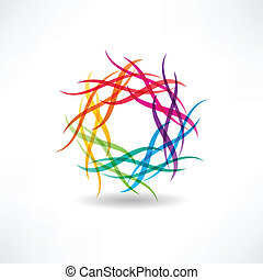 abstract multicolored circles icon