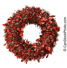 red wreath for Christmas