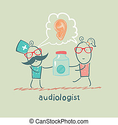 otolaryngologist says ear disease and gives the patient a...