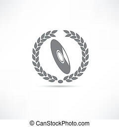 CD disk icon