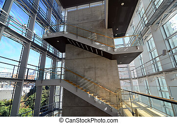 Stairwell in a modern building