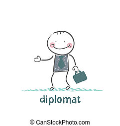 diplomat goes to work