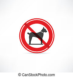dogs are prohibited icon
