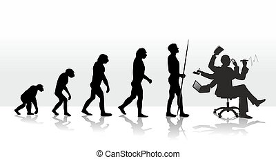 evolution - human evolution ending with stress at work