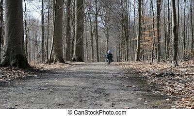 Boy on run bike